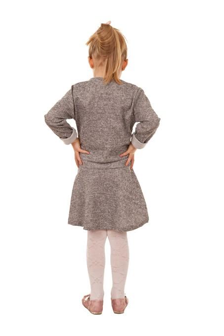 sukienka dla dziewczynki z misiem szary megajunior_1